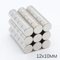 20pcs 12x10mm n35 small disc round magnetic magnet super strong powerful rare earth neodymium permanent magnets 1210mm