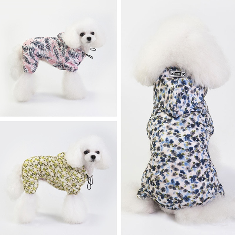 Nueva llegada perro impermeable cachorro cuatro estaciones transpirable impermeable mono Chihuahua Teddy ropa al aire libre abrigo para mascota