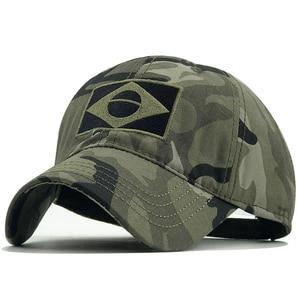 New Tactical Baseball Cap Men Summer Brazil Flag Sun Protection Snapback Cap Male Fashion Casual Golf Baseball Hat Airsoft Hat