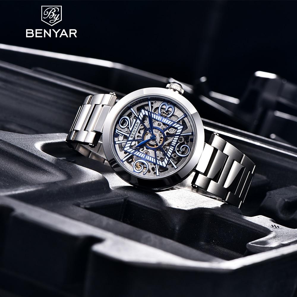 2021 Benyar Top Brand Luxury Watch Men's Automatic Mechanical Sports Watch Men's High-end Leisure Personality Clock Reloj Hombre
