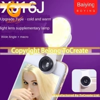 2020 new phone lens macro lens led flash lamp for live vlog photography high technology creative function japan korean style ho