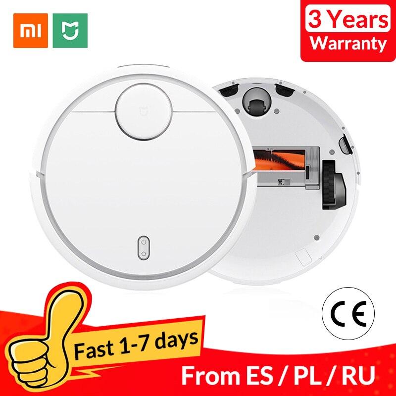 Robot aspirador Xiaomi Mi para el hogar, Alfombra de suelo duro, limpiador automático de polvo, Wifi inteligente planificado MIJIA, Control de aplicación