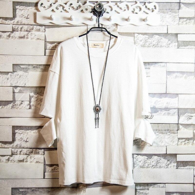 الأبيض الرحيم فضفاض ملابس للرجال على القماش 2019 قصيرة الأكمام تي شيرت الرجال الصيف الاتجاه القطن زوجين نصف كم