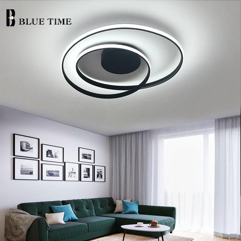 Black&White Frame Led Chandelier Lustre Modern Ceiling Chandelier Lighting Fixtures For Living room Bedroom Dining room Kitchen