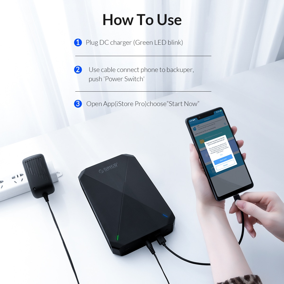 ORICO 3.5 inch Desktop Data Backup 3.5'' Backuper Backup Android Phone to PC Laptop Mac Backup Whatsapp with HDD Backup and Sync enlarge