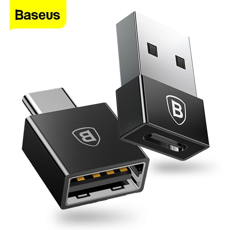 Baseus otg usb tipo c adaptador usb para tipo-c conversor de dados tipo-c otg adaptador para samsung s9 s8 xiaomi tablet USB-C carregador cabo