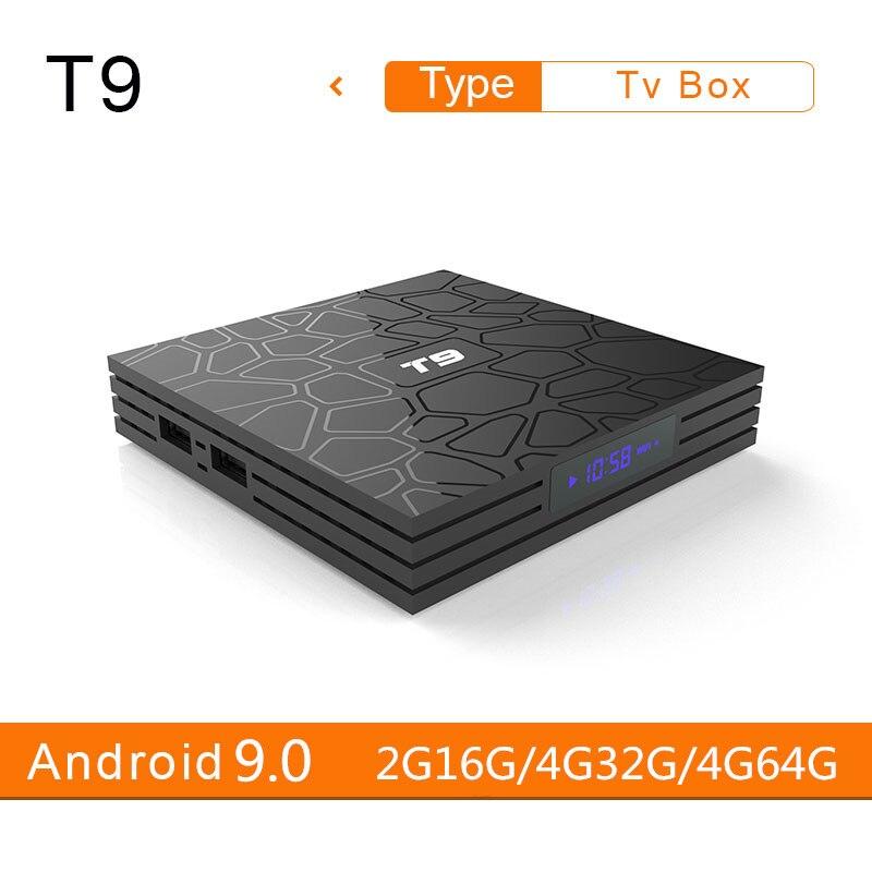 Tv Box T9, Android 9,0, 4GB, 64GB, decodificador de señal T9, RK3328, RK3318, Rockchip, Quad Core, USB 3,0, 4K, 4GB, 32GB, wi-fi Dual 2,4 GHz/5 GHz, 2GB, 16 Reproductor Multimedia Inteligente, PK X96