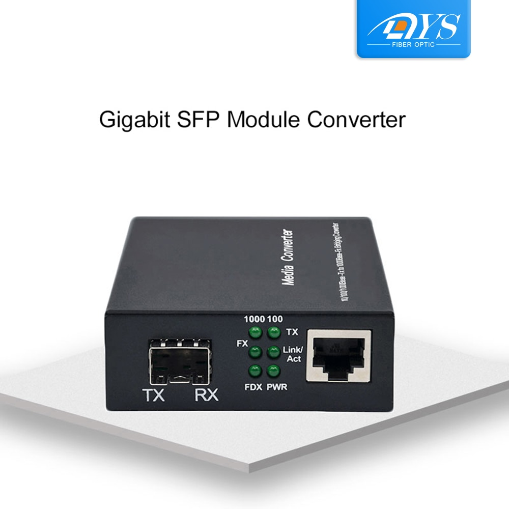 Фото - 10&100&1000M Optical Fiber Transmission Media Converter  Ethernet RJ45 To 1 Gigabit SFP Slot Singlemode SC Fast Ethernet медиаконвертер tp link mc220l 1000m rj45 to 1000m sfp