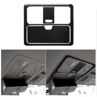 carbon fiber roof reading light panel cover modified decorative sticker fit for nissan 350z z33 2003 2009