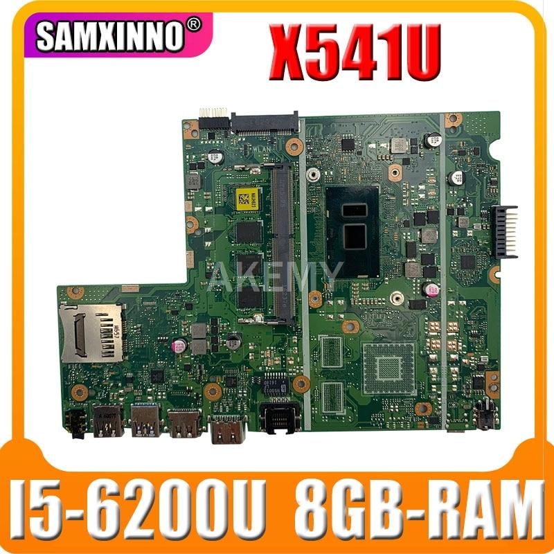 Материнская плата для ноутбука For Asus X541U X541UVK X541UAK X541UA X541UV X541UJ тест материнской платы OK w/ I5-6200U CPU 8GB-RAM