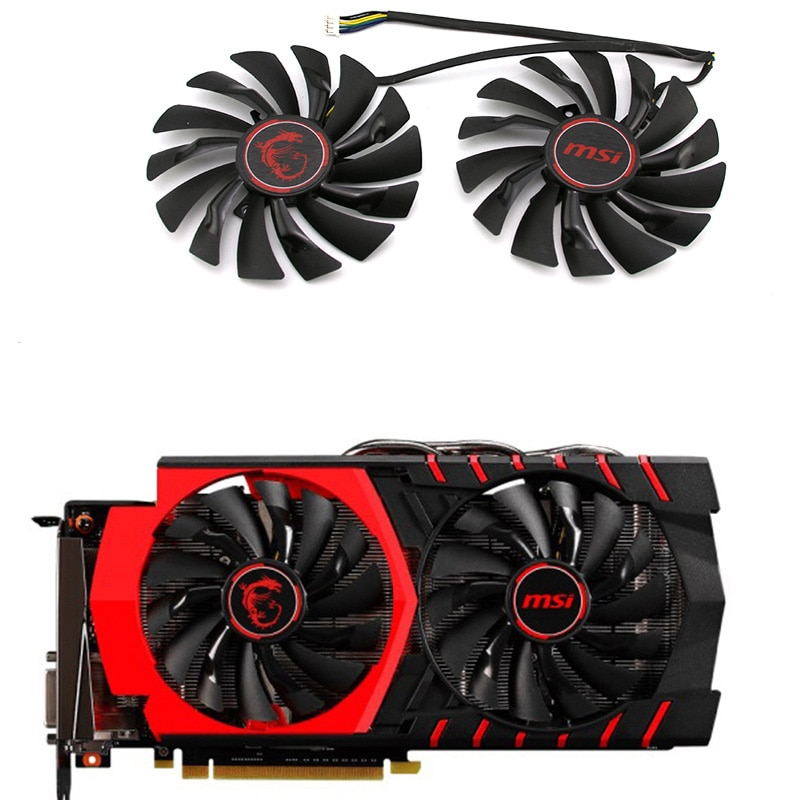 95MM PLD10010S12HH ventiladores y de refrigeración para MSI GTX 1060, 1070 de 1080 TI RX 470 de 570 RX580 GPU de juegos de Video ventilador de la tarjeta