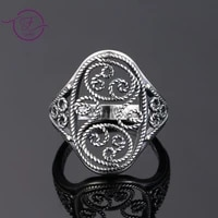 vintage hollowed rings silver jewelry wedding engagement anniversary gift ring for women men wholesale