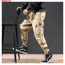 Dropshipping Male Autumn Sweatpants Toursers 2020 Mens Japanese Harem Joggers Pants Men Streetwear Pocket Causal Pants