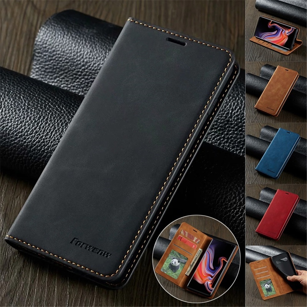 Ultra Thin Leather Case for iPhone 12 Mini 11 Pro XS Max XR 8 7 6s 6 Plus SE 2020 Suede Magnetic Fli