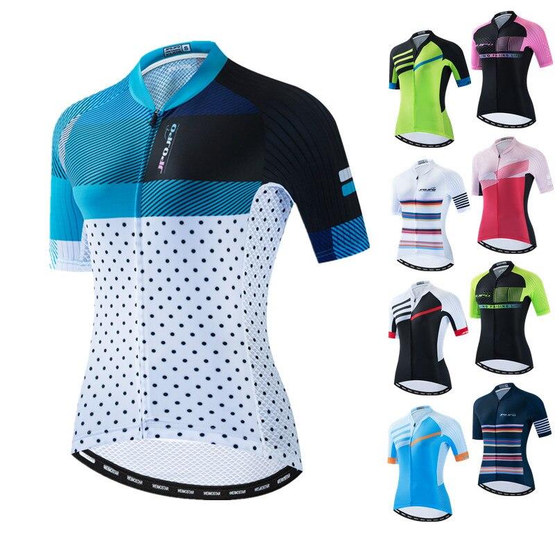2020 frauen Radfahren Jersey Tops Sommer Berg Fahrrad Kleidung Maillot Ciclismo Kurzarm MTB Bike Jersey Team Radfahren Shirt