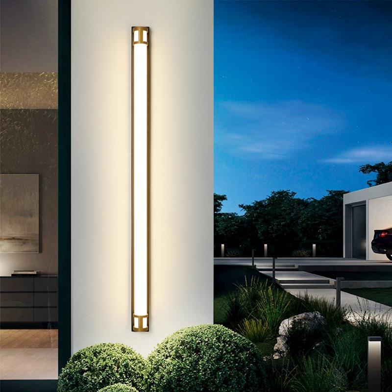 2021 New Modern IP65 Waterproof outdoor LED lamps Gold Black Wall Lightings Garden porch Sconce Light 110V 220V Sconce Luminaire