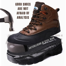 Chaussures de travail de haute qualité larnmern bottes imperméables hommes chaussures indestructibles haut haut chaussures de travail homme sécurité nouvelles bottes militaires
