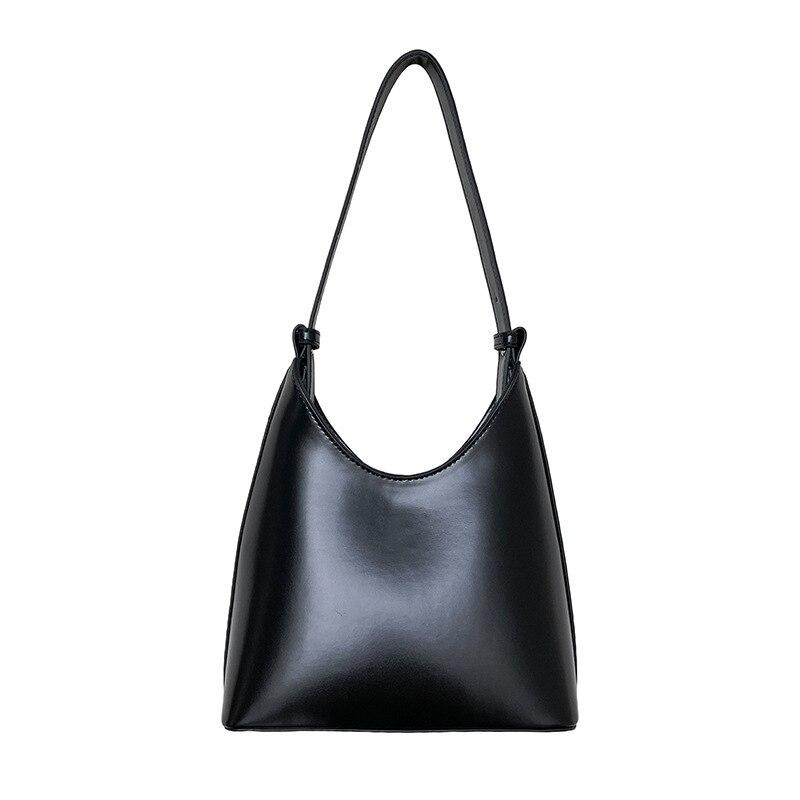 New fashion trend portable shoulder bag Pu texture hand bag niche Bucket Bag European and American s