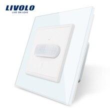 Livolo EU standard Neue Menschlichen Induktion/Touch Induktion Schalter, Glas-Panel,Home Wand Licht Schalter, infrarot Induktion, keine logo