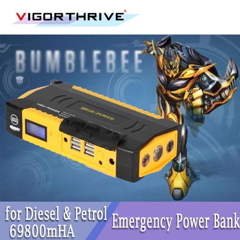 Cargador de batería portátil, 12V, arrancador de batería de coche multifunción para Diesel, gasolina, Viechel, 69800mAh, para ordenador portátil, dispositivo 3C