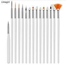 Limegirl Acryl Nagel Pinsel Beruf Stift Für Maniküre Nail art Malerei UV Gel Pinsel Liner Hohe Qualität Nägel Kunst Design werkzeuge