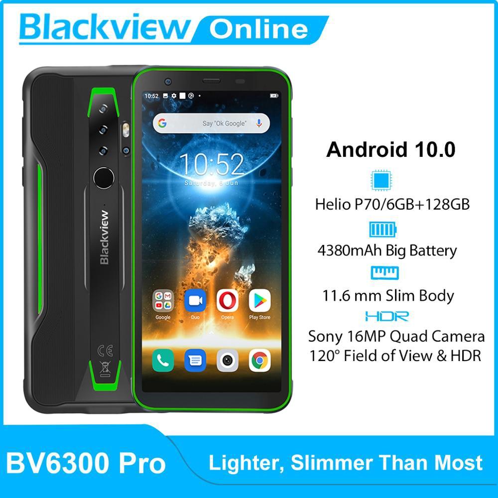Blackview BV6300 Pro Helio P70 6GB+128GB IP68 Waterproof Rugged Smartphone 4380mAh Android 10 NFC 4G Mobile Phone Global Version