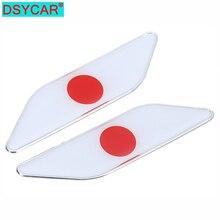 DSYCAR 1 paire voiture style 3D métal voiture autocollants japon japonais drapeau Badge emblèmes décalcomanie accessoires pour Mazda Toyota Honda Suzuki