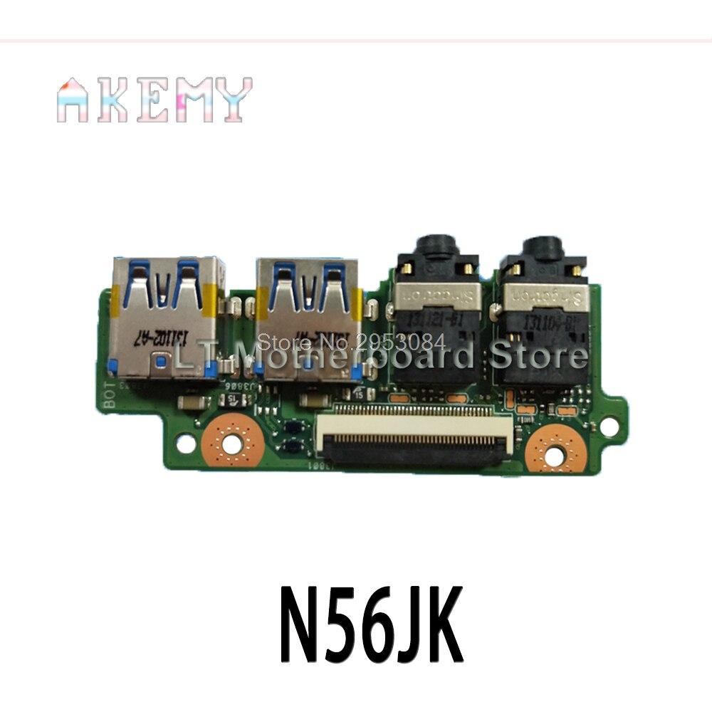 Para For Asus N56 N56V N56VJ N56VM N56VB N56VZ N56J N56JR N56JN N56JK portátil USB de Audio IO interfaz de placa de sonido placa lectora de tarjetas