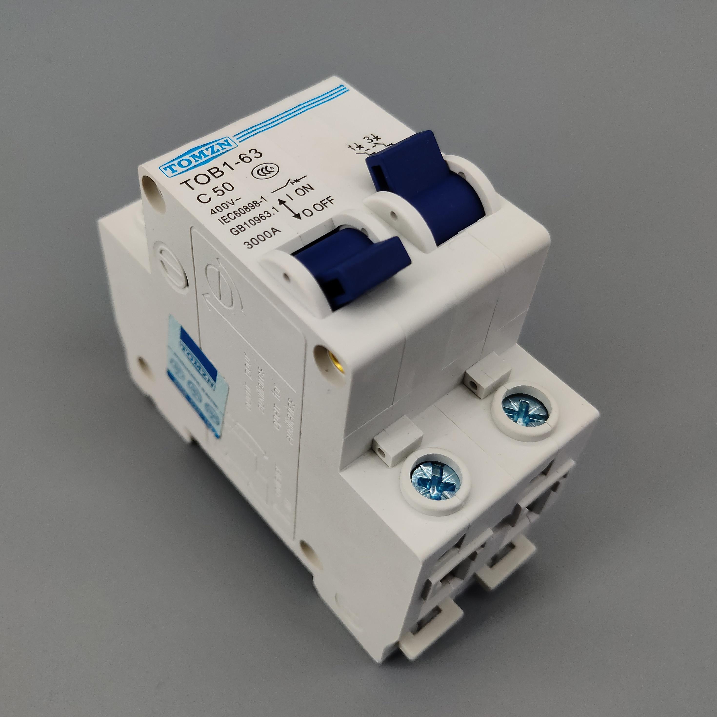 1P 50A MTS Manual transfer switch Circuit breaker MCB 50HZ/60HZ 400~