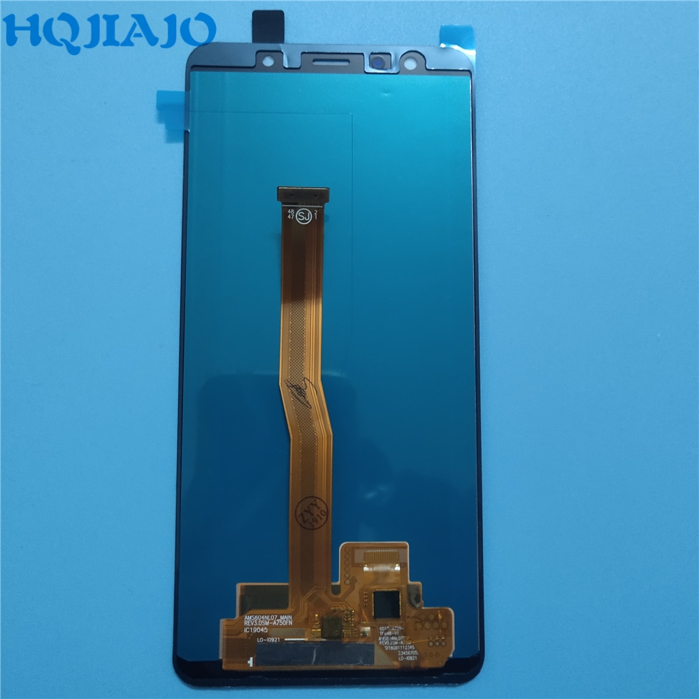 OLED اختبار لسامسونج A750 LCD عرض تعمل باللمس محول الأرقام لسامسونج غالاكسي A7 2018 A750 A750F SM-A750F A750FN