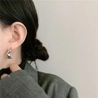 irregular finish small simple and cold style mini earrings for u shaped metal s new south korea celebrity geometric