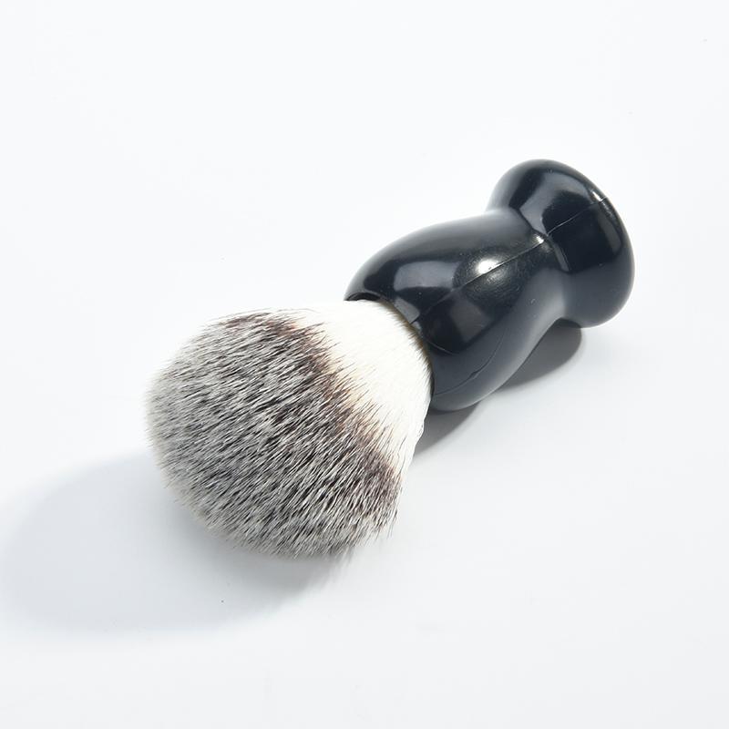 1 uds, brocha de afeitar de madera marrón Schima, el mejor pelo puro M02405 para hombres, brocha de afeitar B7Q0