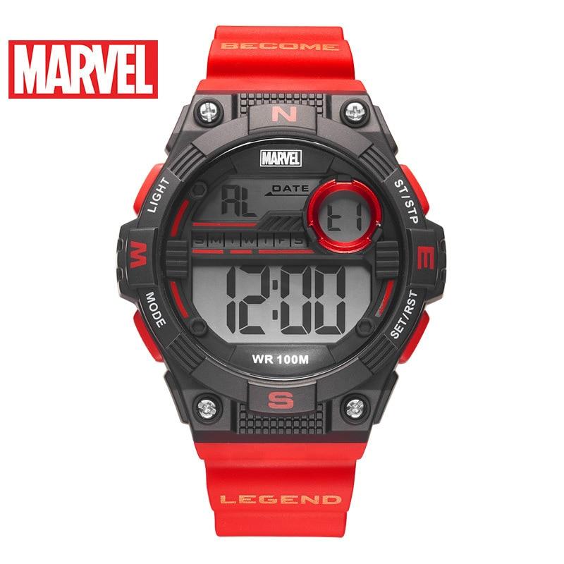Disney Men's Sports Watch New Fashion Electronic Watch Marvel Energy Series Watch Waterproof