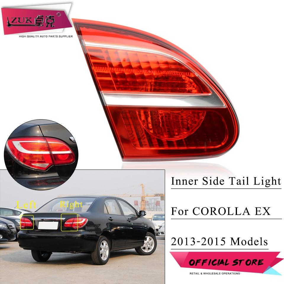 ZUK Para Corolla EX ZRE120 2013 2014 2015 Interior Luz Da Cauda Lâmpada de Cauda luz de Travagem Traseiro Taillight Taillamp Para Toyota