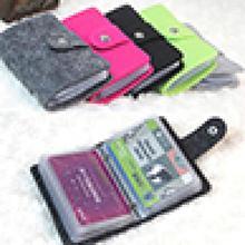Vintage Women\'s Men\'s ID Credit Card Button Case Holder Wallet Organizer Gift