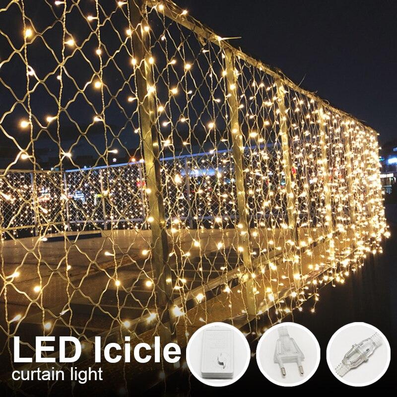 LED Wedding Fairy Lights Christmas Lighting Garland Garden Party LED Icicle Strings Curtain Decoration Holiday Lighting группа авторов led lighting