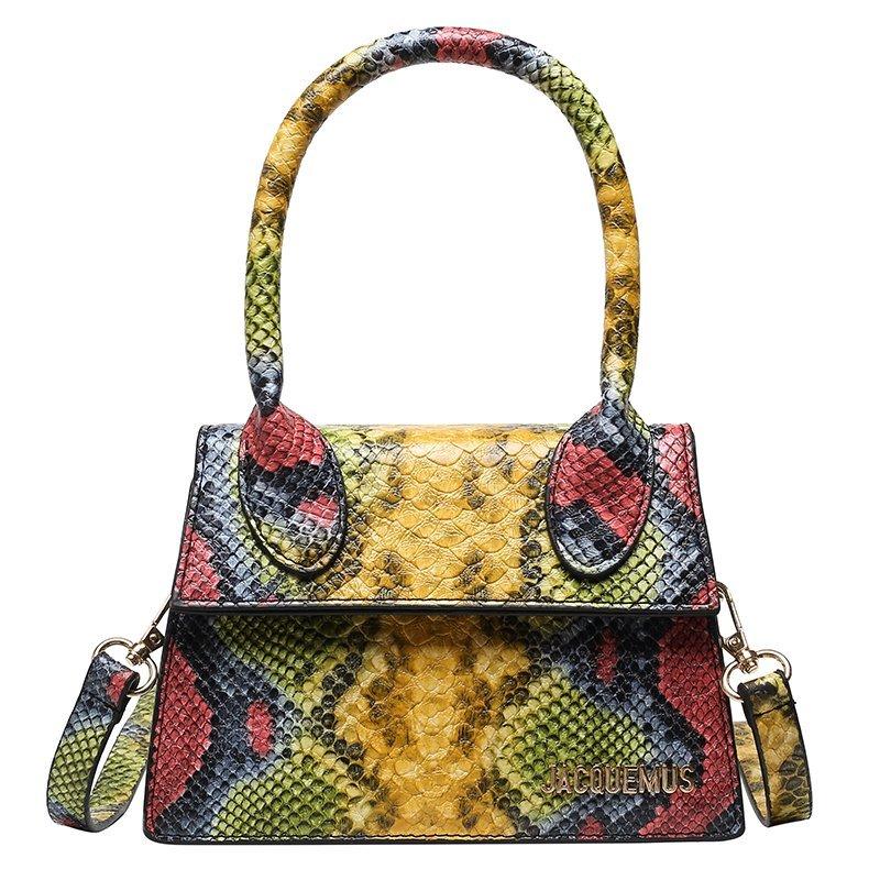 jacquemus bag handbags women famous brand python small bags for women 2020 luxury designer mini crossbody messenger bags purse