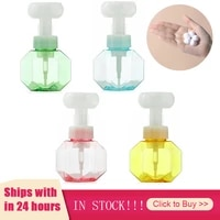 Distributeur de savon liquide en forme de fleur  bouteille vide en plastique transparent  bouteille a pompe pour Gel douche en mousse  bouteille de salle de bains de 300ML