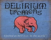 delirium tremens belgian lager beer metal sign poster plaque wall home decor prompt card