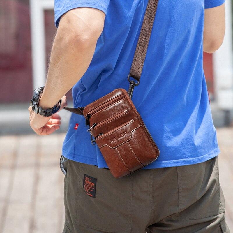 Puimentiua Men's Handbag Single Shoulder Bag Waist Bag Small Straddle Bag Sports and Leisure Shopping Bag Phone Bag