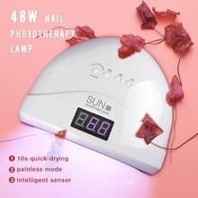 48W LED UV Lamp 30pcs beads Nail Dryer For Curing Quickly Lamp Light Toenail Fingernail Tool