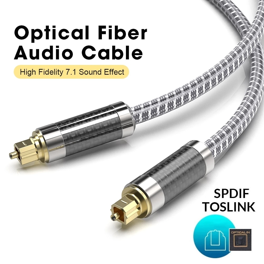 MOSHOU de fibra óptica optico digital de Audio y vídeo Cables de...