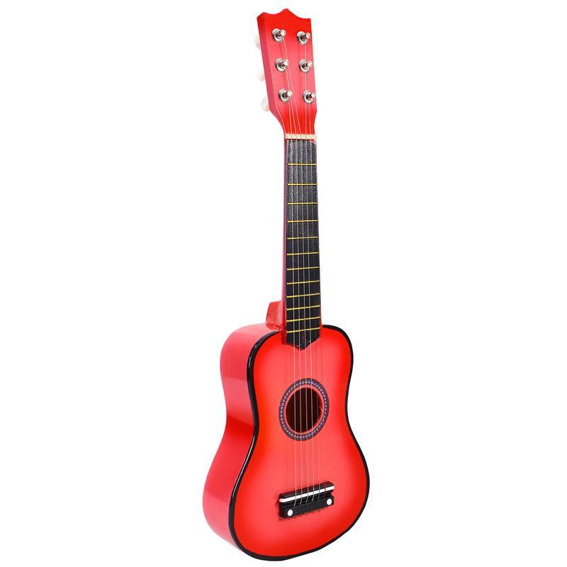 21 дюймовая Акустическая гитара маленького размера, портативная деревянная гитара для детей