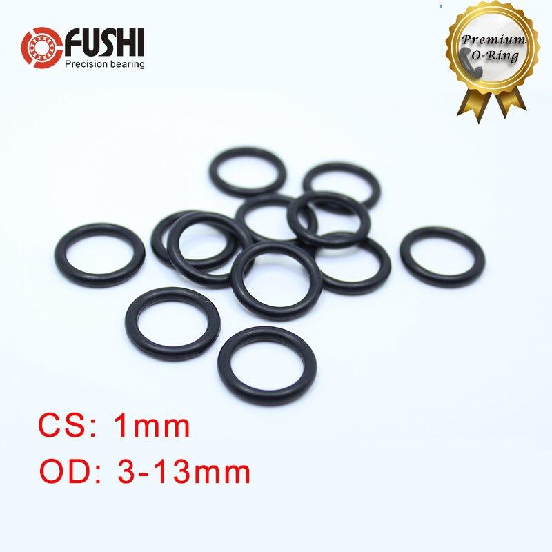 100pcs black o type sealing rubber ring gaskets 4 5 5 6 6 5 7 8 9 9 5 10 11 1 mm CS 1mm NBR Rubber O RING OD 3/4/5/6/7/7.5/8/9/10/11/12/13*1 mm 100PCS O-Ring Nitrile Gasket seal Thickness 1mm ORing