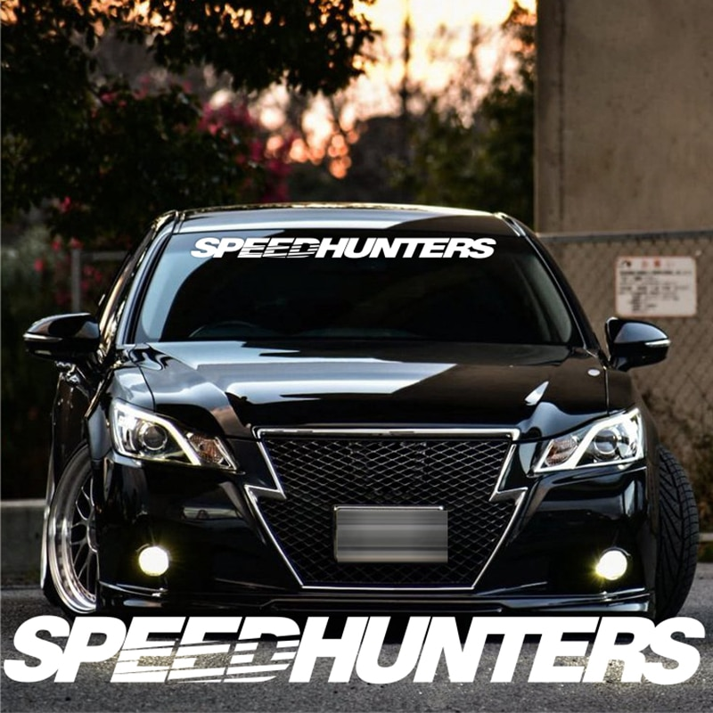 SPEEDHUNTERS Front Windshield Banner Decal Vinyl Car Sticker Auto Window Exterior Decorations Car Styling noizzy hades member ho dragon shield car sticker auto rear windshield decal vinyl reflective automobile white tuning car styling