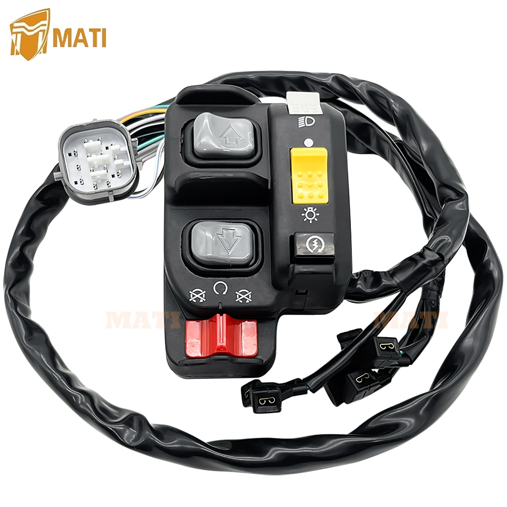 Left Handlebar Switch Electric Shift Start Stop Headlight for Honda TRX680 FourTrax Rincon 2008-2014 35140-HN8-B42 35140-HN8-B41 enlarge