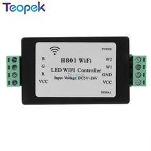 RGBW WiFi LED Controller H801 DC5-24V input;4CH*4A output or RGB RGBW led Strip Light tape