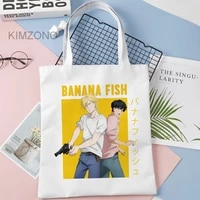 banana fish shopping bag reusable shopping tote shopper bolsa grocery bag woven bolsas reutilizables shoping sac tissu