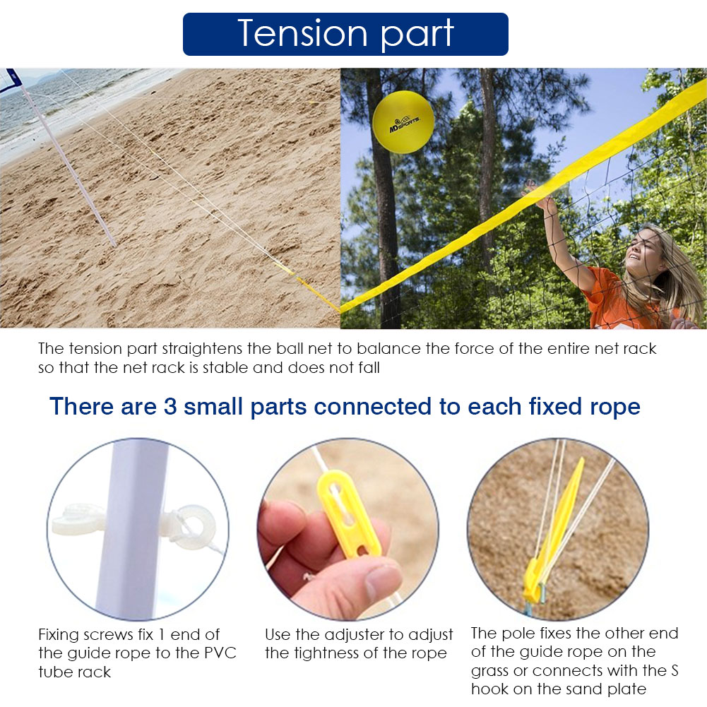Portable tennis badminton volleyball net adjustable height training tool for adult and child indoor and outdoor training tool #W