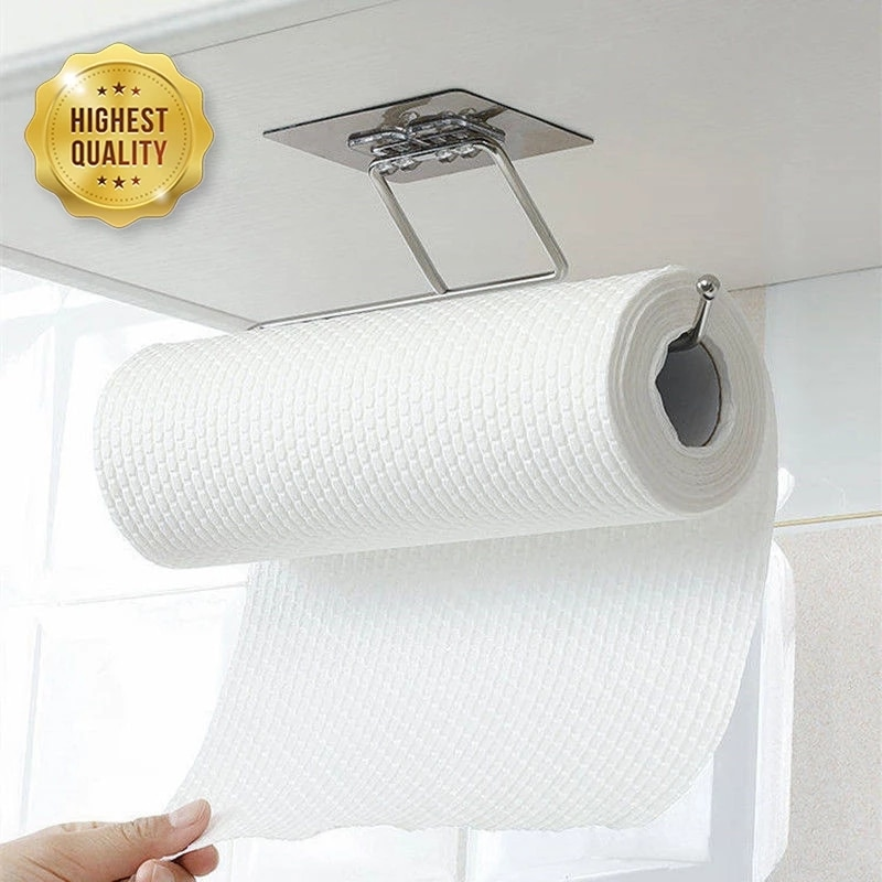 Kitchen Toilet Paper Holder Tissue Holder Hanging Bathroom Roll Paper Holders Towel Rag Hanger Stand